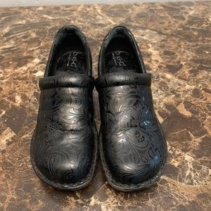 BOC Black Detailed Work Loafers Size 8.5W